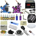 Fashion Tattoo Art Complete Tattoo Kit 2 Machine Guns Set Equipment Power Supply 7 Color Inks MC-KIT-A2002 10-0066