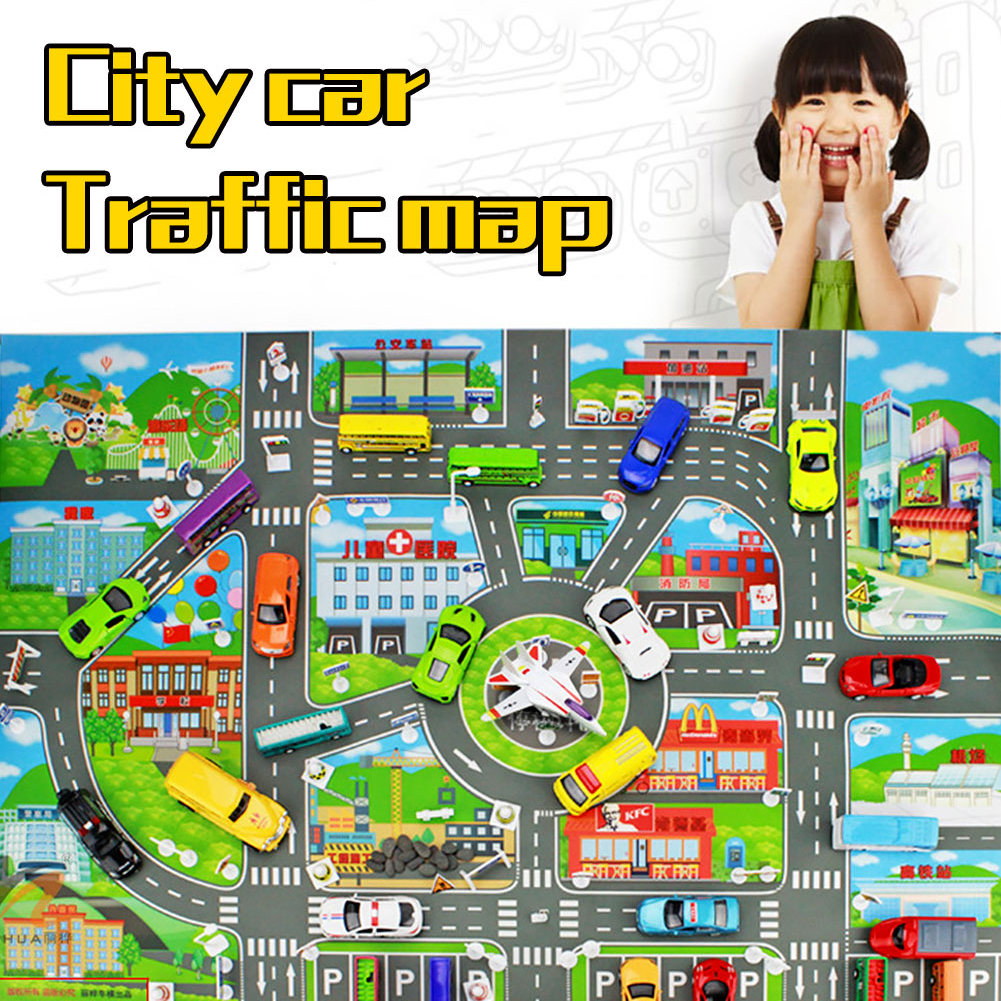 Baby Toy City Map Car Toys Model Crawling Mat Game Pad For Children Interactive Play House Toys Children's Gift Fast Logistics