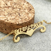 Fashion Personalized Name Necklace in Silver Gold Custom Made with Any Jewelry Gift For Women