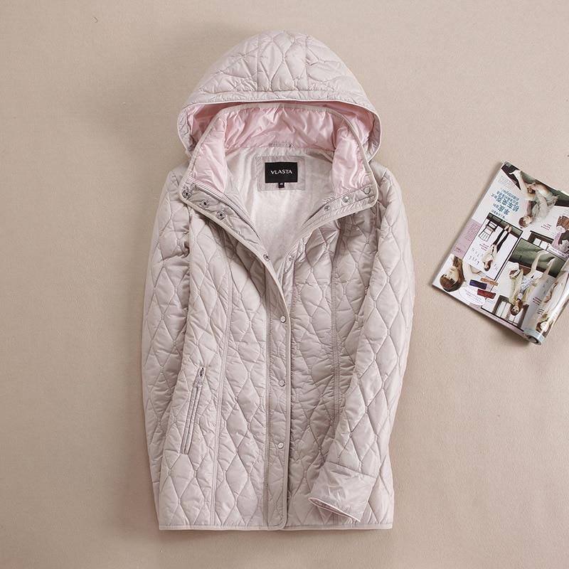 höst och vinter parka kvinnor kort design Långärmad hoodie vacker varm jacka För Europa och Ryssland plus storlek 46-56 v301