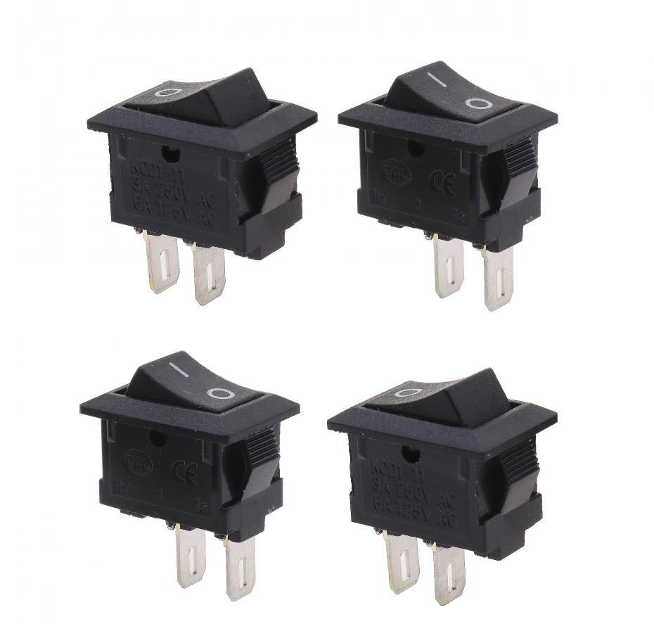 20pcs/lot 10*15mm SPST 2PIN ON/OFF G130 Boat Rocker Switch 3A/250V Car Dash Dashboard Truck RV ATV Home CE certification