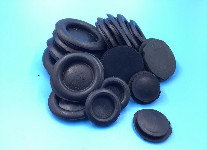 16MM 20MM 25MM 30MM 35MM 40MM single sided closed easy fit plastic Grommet rubber grommet black