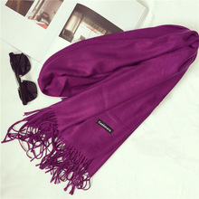 shawls and scarves cashmere cape plain winter warm scarf luxury  pashmina soft scarves  tassel cashmere women scarf
