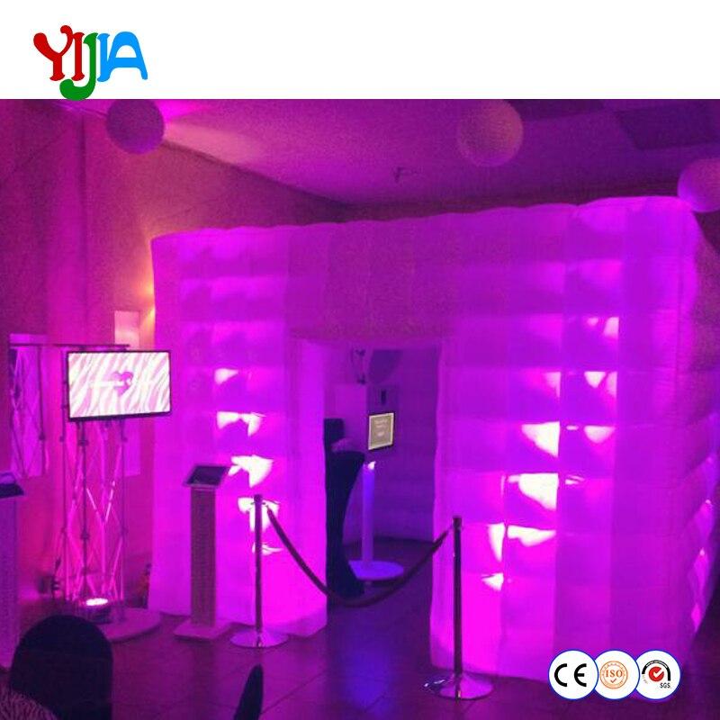 좋은 옥스포드 헝겊 조명 휴대용 풍선 사진 부스 led 조명 및 내부 공기 팬 사진 파티 결혼식을위한 오두막 모두-에서파티 백드롭부터 홈 & 가든 의  그룹 1