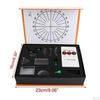 Оптический вогнутый выпуклая линза Призма набор физический оптический комплект лабораторное оборудование Новый LS'D инструмент