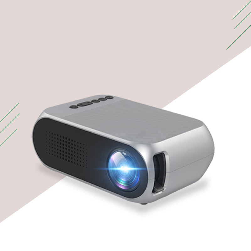 HATOSTEPED YG320 Home Mini HD 1080P LED Mini Portable Projector Projector Video HDMI USB Full Projetor TV Home Theater Beamer 1000lumens 1080p hd home theater lcd pc the hdmi usb pico video game led mini projector projector hd proyector beamer