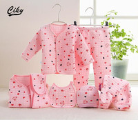 7pcs Set Newborn Baby 0 6M Clothing Set Brand Boy Girl Winter Clothes 100 Cotton Underwear