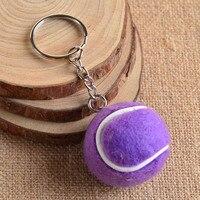 Sports Tennis Keychain For Men And Women Metal Key Ring Holder Cute Tennis Ball Key Chain