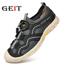 Men's Hiking Shoes Air Mesh Breathable Sneakers Warm High Top Mountain Climbing Camping Shoes Trekking Hunting Footwear Big Size