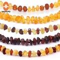 HAOHUPO 16 цветов янтарный браслет для прорезывания зубов/ожерелье для детей и взрослых лабораторные испытания Аутентичные 8 размеров Натураль...