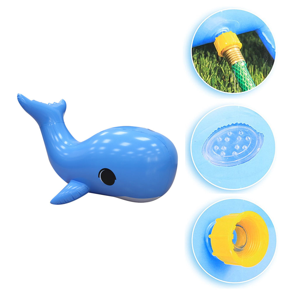 Water Toys Outdoor Swimming Pool Game Appliance Inflatable Toys Water Spray Dolphin Simulation Dolphin Model Toy