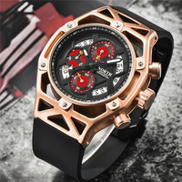 NORTH Fashion Quartz watch for men luxury casual hronograph Military Waterproof Sport Wrist Watch mens watches horloge mannen