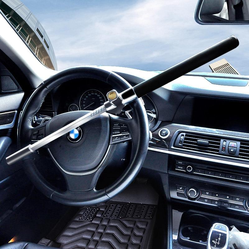 Universal Car safety Steering Wheel Lock Retractable Theftproof Security Steering Wheel Lock Auto Anti-theft With 2 Keys universal car steering wheel lock anti theft car locks accessories retractable theftproof lock