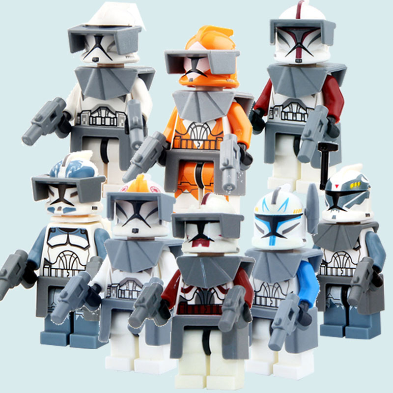 CZHY Star Wars 7 The Force Awakens Clone Trooper Commander Fox Rex Building Blocks Figuer Collection Xmas Gift Toys For Kids 90pcs decool 901 909 star wars white solider clone trooper captain rex jek 14 clone commander model building blocks bricks toys