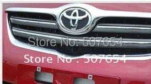 Free shipping! Higher star Beautiful Front Grille Trim(ABS chrome)For Toyota Corolla 2007-2010 for toyota corolla 2011 2012 2013 car protection abs chrome trim front racing up grid grill grille around frame lamp panel 1pcs