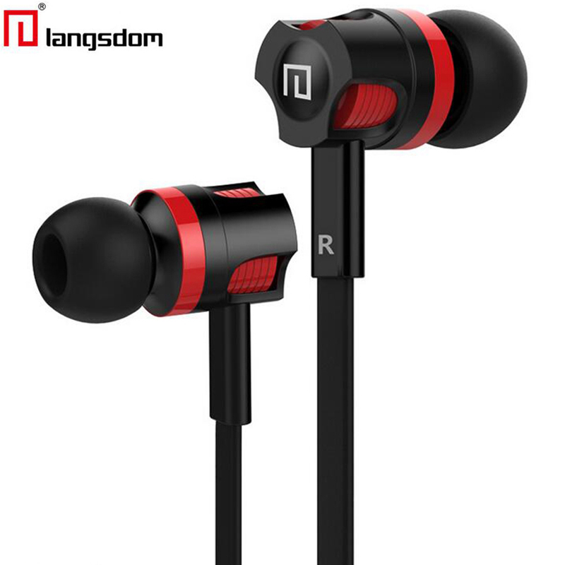 Original Langsdom JM26 3.5mm In ear Stereo Earphone Earbuds Headsets with mic earphones for iPhone 6 6s xiaomi Mobile Phone PC original senfer dt2 ie800 dynamic with 2ba hybrid drive in ear earphone ceramic hifi earphone earbuds with mmcx interface