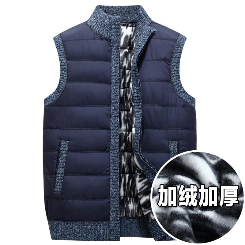Neue Ankunft Winter Männer Strickjacke Pullover Mode Warmen Lässige Weste, Sleeveless Computer Gestrickte Zipper Dicke Größe M L Xl Xxl 3xl