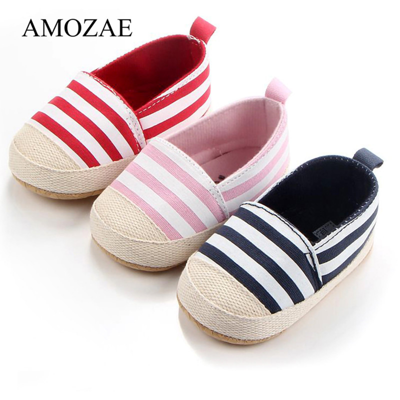 2020 Vintage New Arrival Baby Shoes For Newborn Striped Baby Boys Girls First Walker Infant Toddler Cute Kids Shoes Dropship