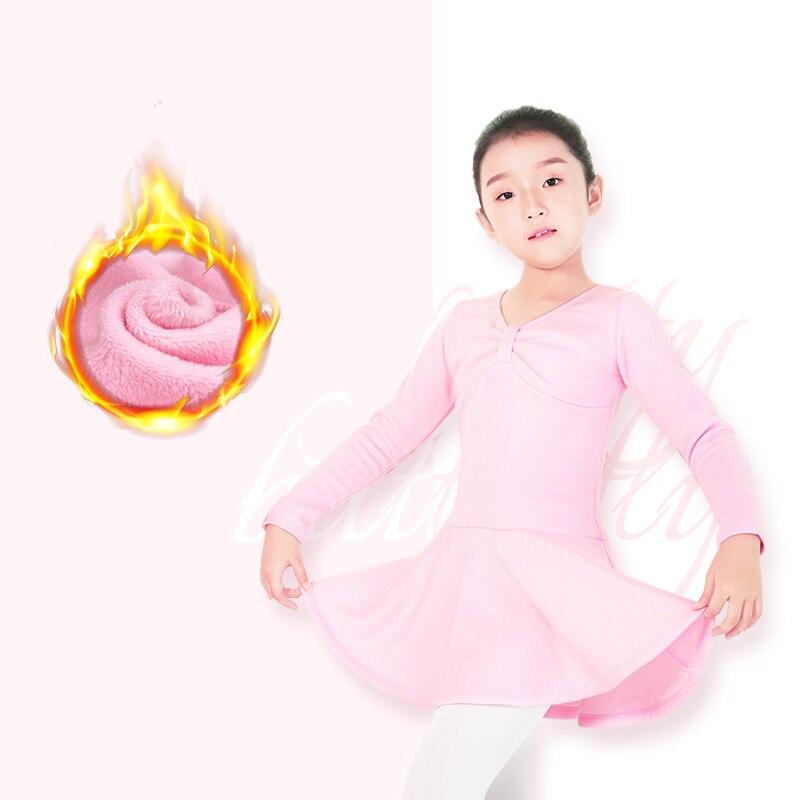 Image 4 - Autumn Winter Girls Velvet Ballet Dance Dress Children Thick Warm Gymnastic Dance Practice Costumes Ballet Tutu With ShortsBallet   -