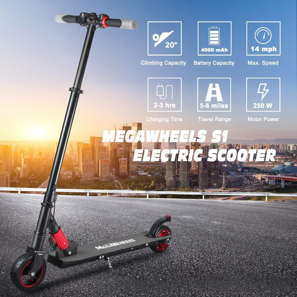 <font><b>250W</b></font> <font><b>Electric</b></font> <font><b>Scooter</b></font> for Kids and Adults Ultra-Lightweight Two Wheel Foldable <font><b>Electric</b></font> Kick <font><b>Scooter</b></font> Skateboard Christmas Gifts image
