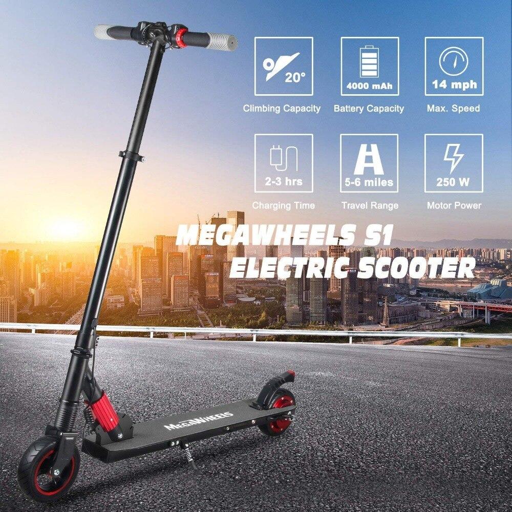Scooter électrique 250 W pour enfants et adultes Ultra-léger deux roues pliable électrique Kick Scooter Skateboard cadeaux de noël