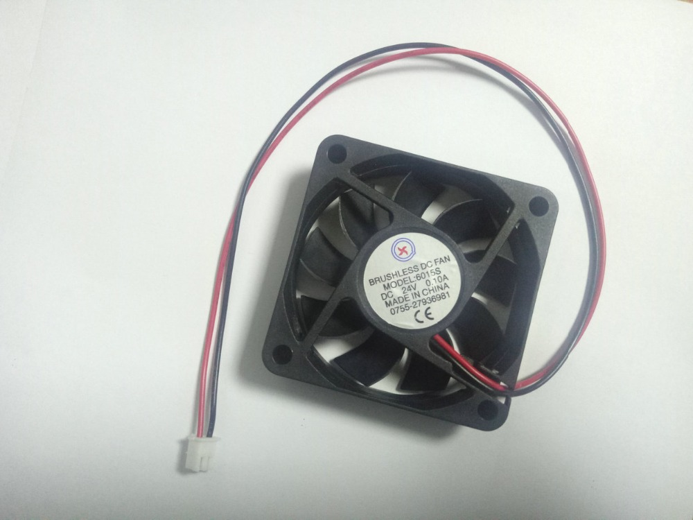 100 pcs Brushless DC Cooling Fan 24V 6015S 60x60x15mm