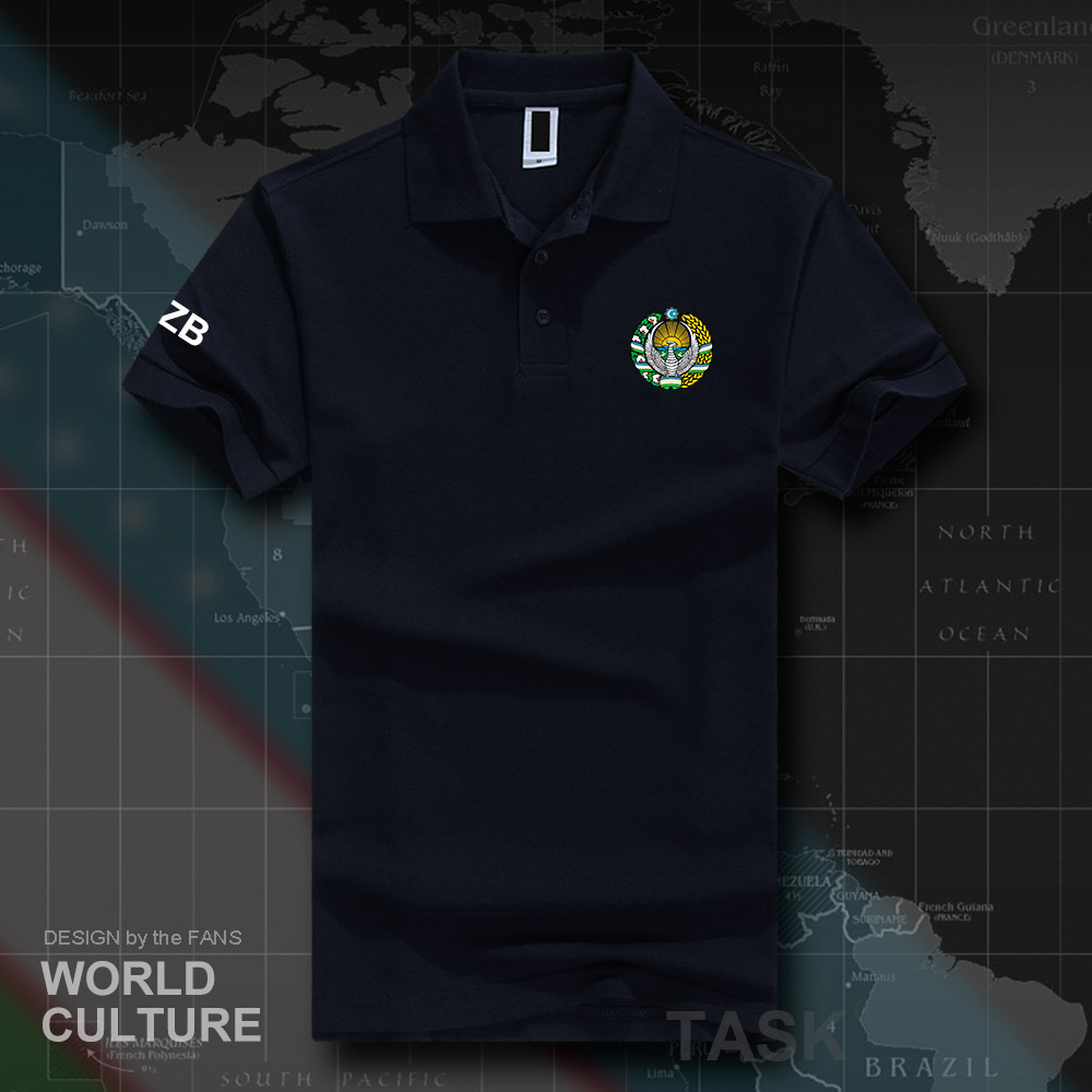 Uzbekistan Uzbekistani UZB O'zbekiston   polo   shirts men short sleeve white brands printed for country 2018 cotton nation team 20