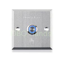 Door button with blue LED backlight Metal Exit switch button door release For electric Lock Access Control system home alarm