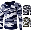 Winter Fall warm  men fashion pullover  camouflage cool leisure handsome sweater  knitwear for male