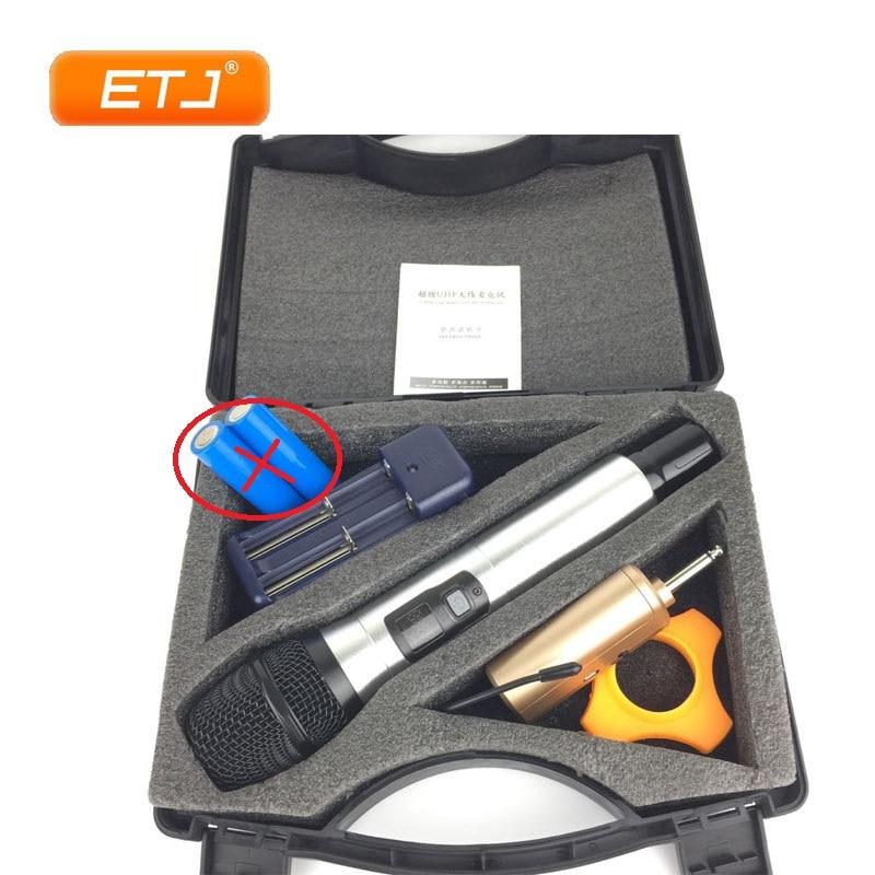 ETJ Brand Professional UHF Wireless Microphone Dynamic Handheld Karaoke Portable Microphone Q1