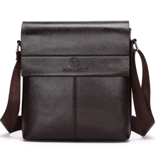 Men's Classic Style Leather Bag without Pattern