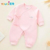Newborn Baby Belt Rompers Winter Warm Clothes 1 2 3 4 5 6 Months Infants Girls