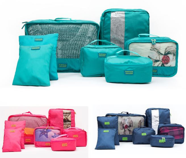 7pcs/set Maternity Diaper Bag Mommy Bag Clothes Packing Cube Luggage Organizer Sets Travel Storage Bag Home Storage Travel Bags