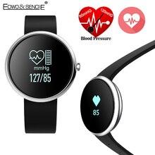 EDWO V06 Smartband Часы Кровяного Давления Монитор Сердечного ритма Браслет Здоровья Фитнес-Трекер Bluetooth Браслет Для iOS Android