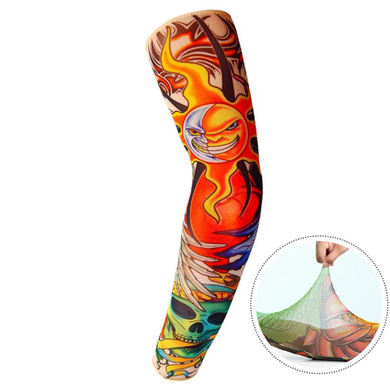 1Pc Arm Sleevess Breathable Summer Outdoor Cycling Arm Cover Sleeves Multi-color