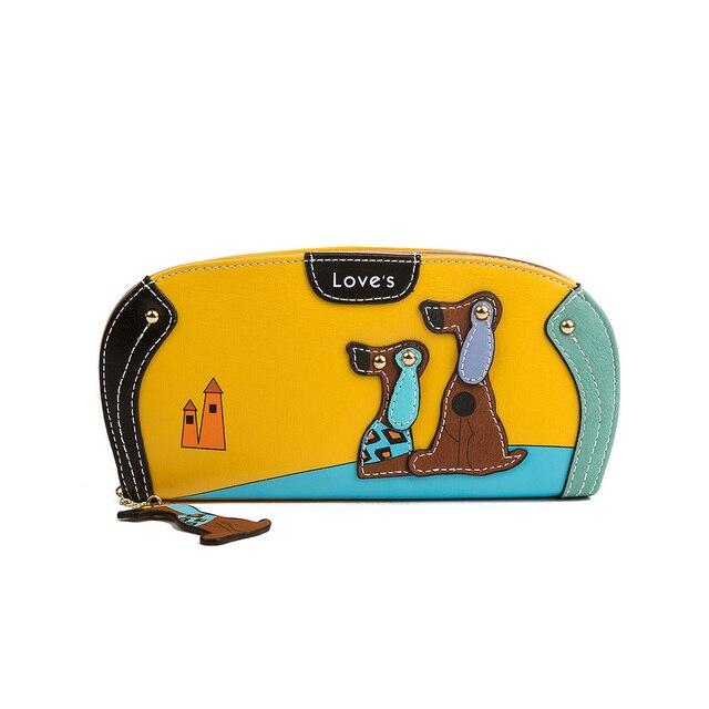 Damski portfel z wszywką pieski różne kolory