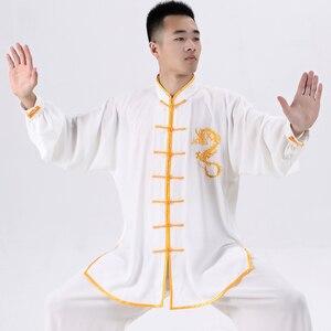 Image 3 - Martial Art Uniform Kung Fu Suits Long Sleeve Tai Chi Clothing Chinese Traditional Folk Taiji Outdoor Walking Morning Sprots