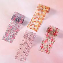 10pcs Colorful Nail Foil Set Flower Printed Nail Art Transfer Sticker Manicure DIY Sticker Nail Decoration стоимость