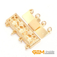 Clasp GF0005 4 Strings Filigree 14K Gold Filled Jewelry Clasp 8X24MM One PCS To Sale For