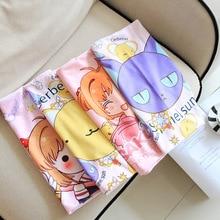 Чехол для подушки Sakura Kero с рисунком животных, мягкий плюшевый чехол для подушек в общежитии, студенческий Одноместный чехол, мультяшная креативная Мягкая кукла