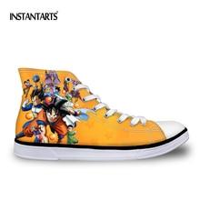Instantarts Cool Аниме Драконий жемчуг z goku печати мужчин Высокая парусиновая обувь для хип-хопа повседневные мужские высокие вулканизируют Обувь для мальчиков студентов