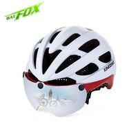 KINGBIKE New Breathable Cycling Helmet With Sunscreen Lens PC EPS Integrally Molded Helmets Safe Head Cap