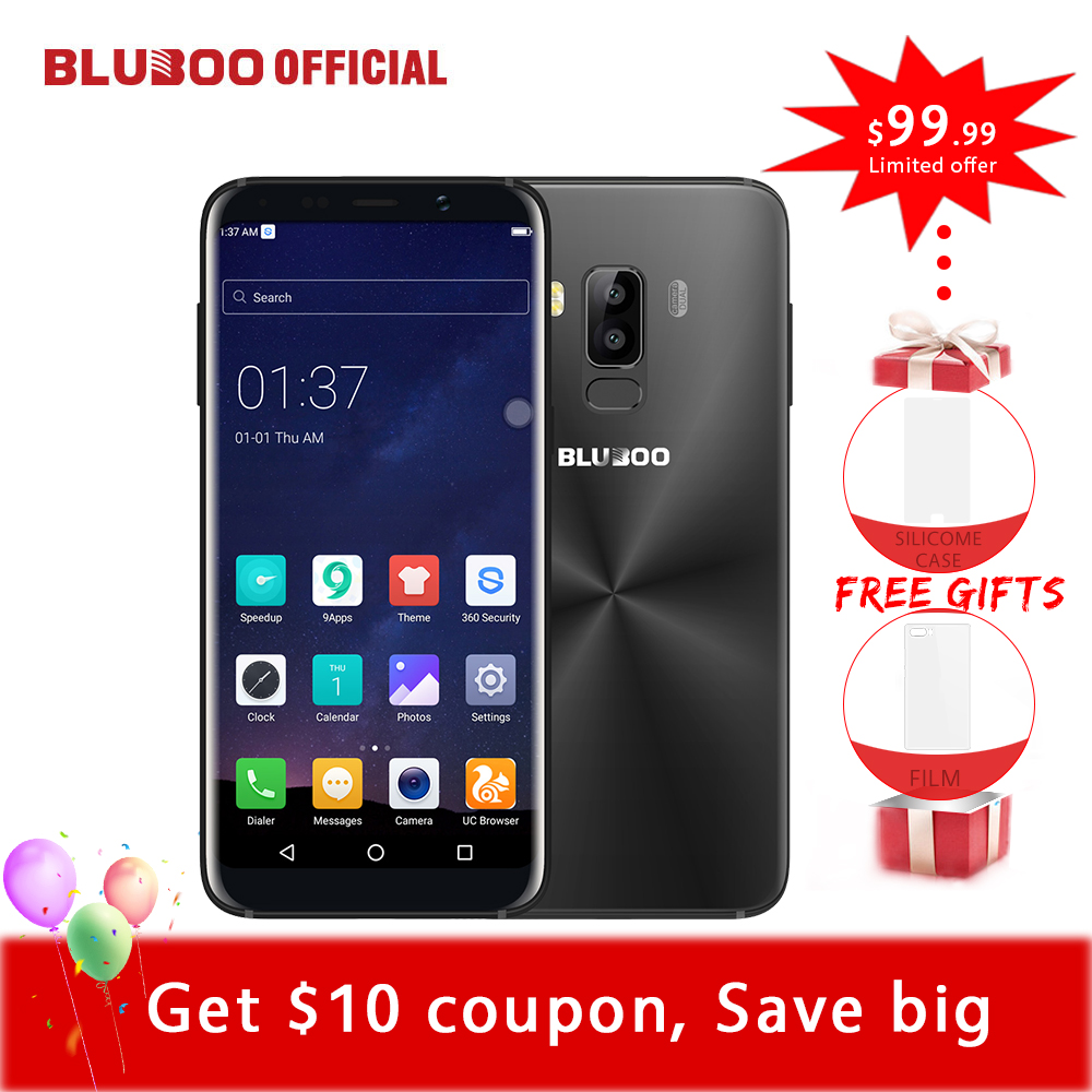 Bluboo S8 5,7 ''Full Display 4G Smartphone 3 GB RAM 32 GB ROM MTK6750 Octa-core Android 7.0 Dual Rückfahrkamera Mobile telefon