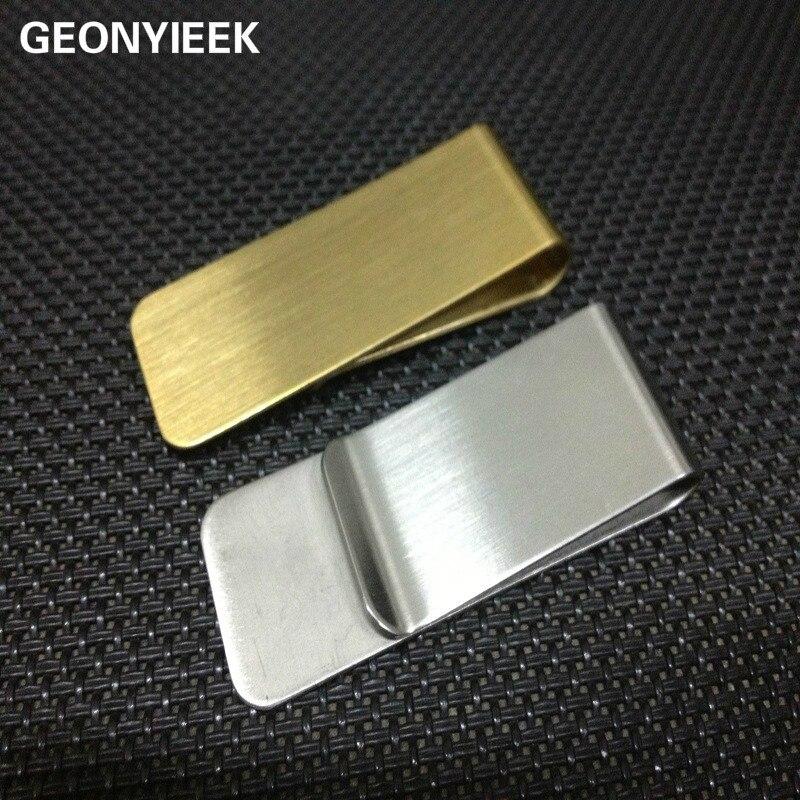 1 Pc Fashion Rvs Metalen Geld Clip Eenvoudige Zilveren Dollar Cash Klem Houder Portemonnee Portemonnee Voor Pocket Voor Mannen Vrouwen
