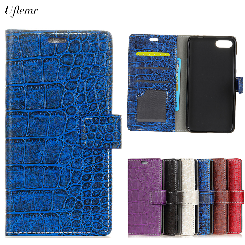 Uftemr Vintage Crocodile PU Leather Cover Silicone Case For ASUS Zenfone 4 Max ZC554KL 5.5inch Wallet Card Slot Phone Acessories