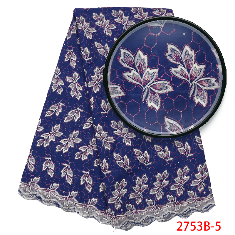 Hot Sale Swiss Voile Lace,French Lace Fabric Best Selling,Nigerian Cotton Embroidery Laces With Stones For Women KS2753B-5