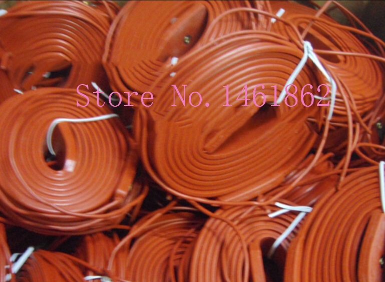 50mmx6M  900W  220V Silicone Heater , Flexible Heating Element Silicon rubber waterproof cable heating pipeline heater band brick red pipeline waterproof heating cable 220v 10m x 25mm