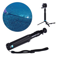 New Arrival 1pc Handheld Monopod Selfie Stick Remote Buckle Adapter Seat Supports Go Pro Hero 2