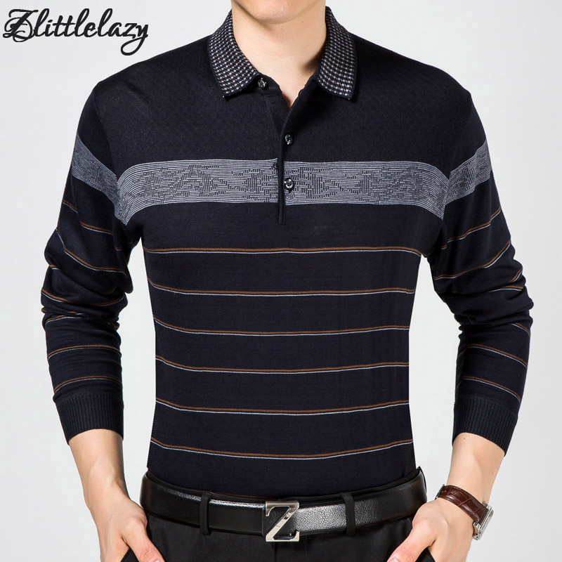 Business Mens Long Sleeve Polo Shirt