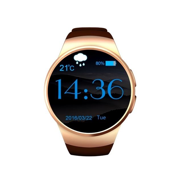 KingWear KW18 Bluetooth Smart Watch Phone Sim And TF Card Heart Rate Reloj Smartwatch Wearable App For IOS Android mp3